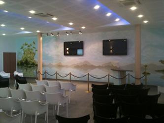 Photo de la salle de cérémonie des ETS Emmanuel PETREL